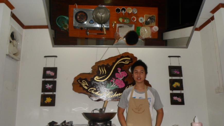 Cooking class at Thai Orchid cookery school in Chiang Mai