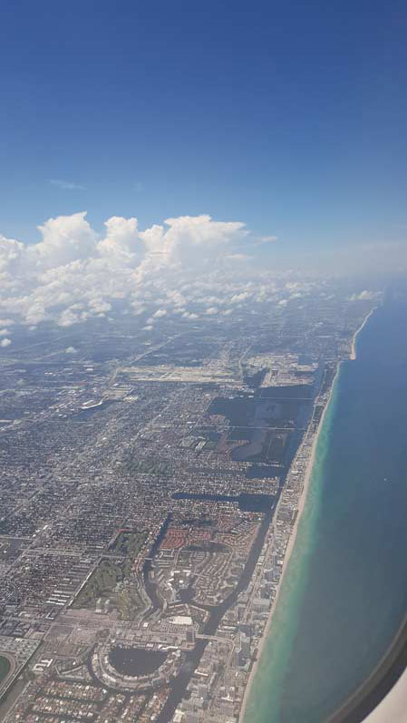 View from the air in Miami
