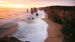 The Twelve Apostles during sunset