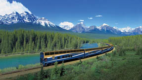 A train near Lake Louise