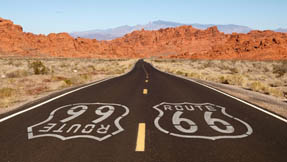 A stretch of road on Route 66